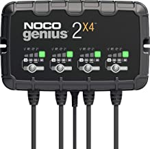 NOCO GENIUS2X4, 4-Bank, 8-Amp (2-Amp Per Bank) Fully-Automatic Smart Charger, 6V and 12V Battery Charger, Battery Maintain...