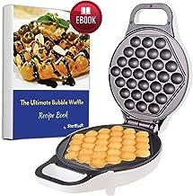 Hong Kong Egg Waffle Maker with BONUS recipe e-book - Make Hong Kong Style Bubble Egg Waffle in 5 minutes AC 110V, 50/60Hz 640W