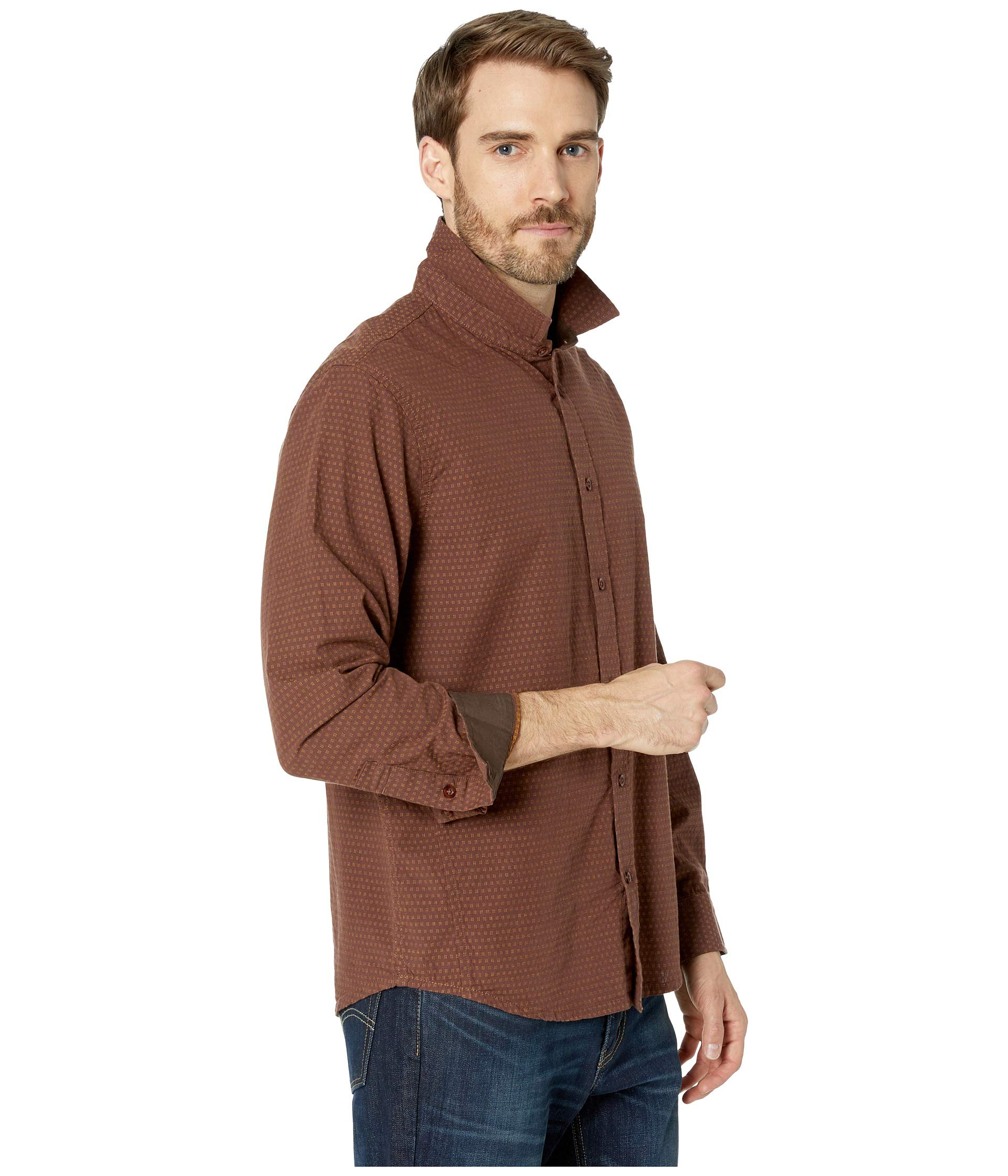 Wood Long Sleeve Shirt Graden Wedged Prana O08SZnwqW