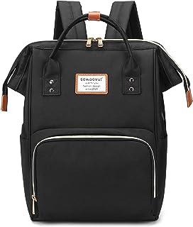 کوله پشتی لپ تاپ SOWAOVUT 15.6 اینچ کوله پشتی روزانه گاه به گاه مقاوم در برابر آب کوله پشتی مدرسه مسافرتی زنان دانش آموز