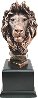 King Of The Jungle African Lion Pride Bust Bronze Electroplated Figurine Statue Savanna Animal Kingdom Great Gift For Nature Lovers Beautiful Home Decor Sculpture
