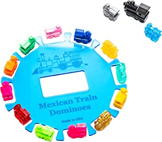 Bello Games 12 Player Acrylic Hub for Dominoes & Accessories Trains