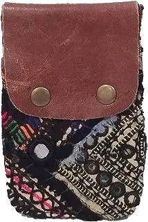 Free People Vintage Genuine Leather Tapestry Boho Chic Wallet - Pack of 1