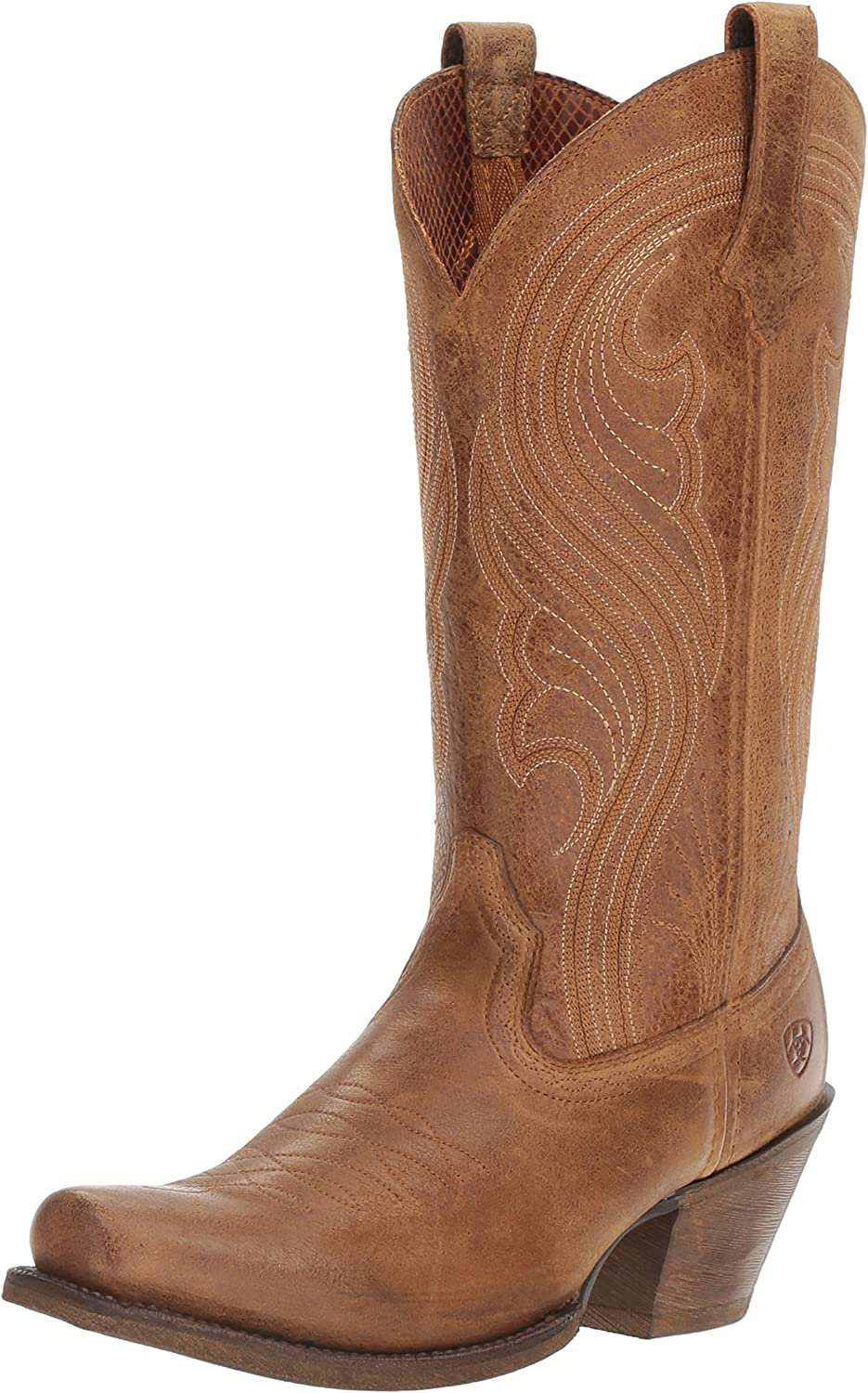 Ariat Women's Women's Lively Western Cowboy Boot, Old West Brown, 9 B US