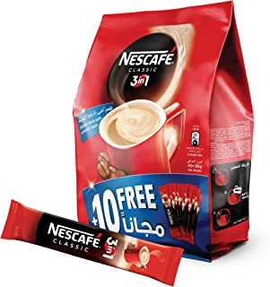 Nescafe 3in1 Coffee Mix 20g Sachet, 40 Pieces (Pack of 1)