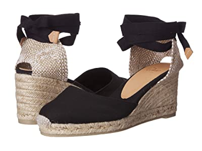 CASTANER Carina 60mm Wedge Espadrille (Black) Women