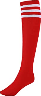 Women's Three Stripes Knee High Striped Socks