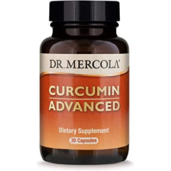 Dr. Mercola Curcumin Advanced, 500mg, 30 Servings (30 Capsules), Curcumin Supplements, Curcumin Spice, Non GMO, Soy-Free, Gluten-Free, Curcumin Root Extract