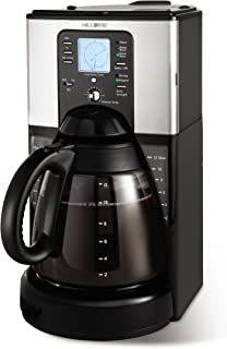 Mr. Coffee Performance Brew 12-Cup Programmable Coffee Maker, Stainless Steel