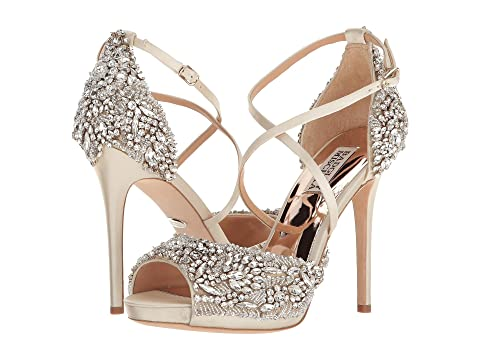 Sale Factory Outlet Huge Surprise Sale Online Badgley Mischka Hyper Ivory Satin Free Shipping Prices Manchester Pictures Cheap Price DTOXsTfJ