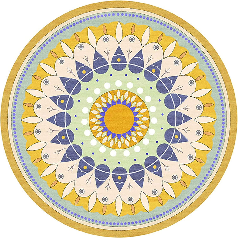 ZHAOHUI Round Branded goods Carpet Pastoral In stock Style Machine Non-Slip Mat Floor