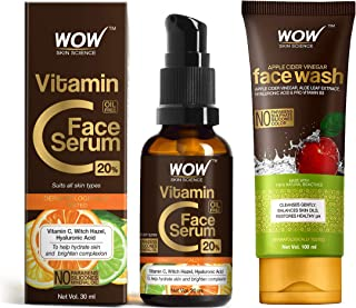 WOW Skin Science VitaminC Serum-Skin Clearing Serum-Brightening, Anti-Aging Skin Repair, Supercharged Face Serum & Sun Dam...