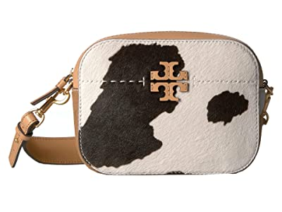 Tory Burch Mcgraw Calf Hair Camera Bag (Amarena/Natural) Handbags