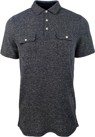 Amazon.com: Michael Kors Men's Textured Dual Pocket Polo Shirt-HG ...