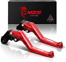 MZS Short Levers Brake Clutch CNC for Honda GROM MSX125 2014-2019/ CBR250R 2011-2013/ CBR300R CB300F CB300FA 2014-2017/ CB300R 2018-2019/ CBR500R CB500F CB500X 2013-2018/ Monkey 125 2018-2019 Red