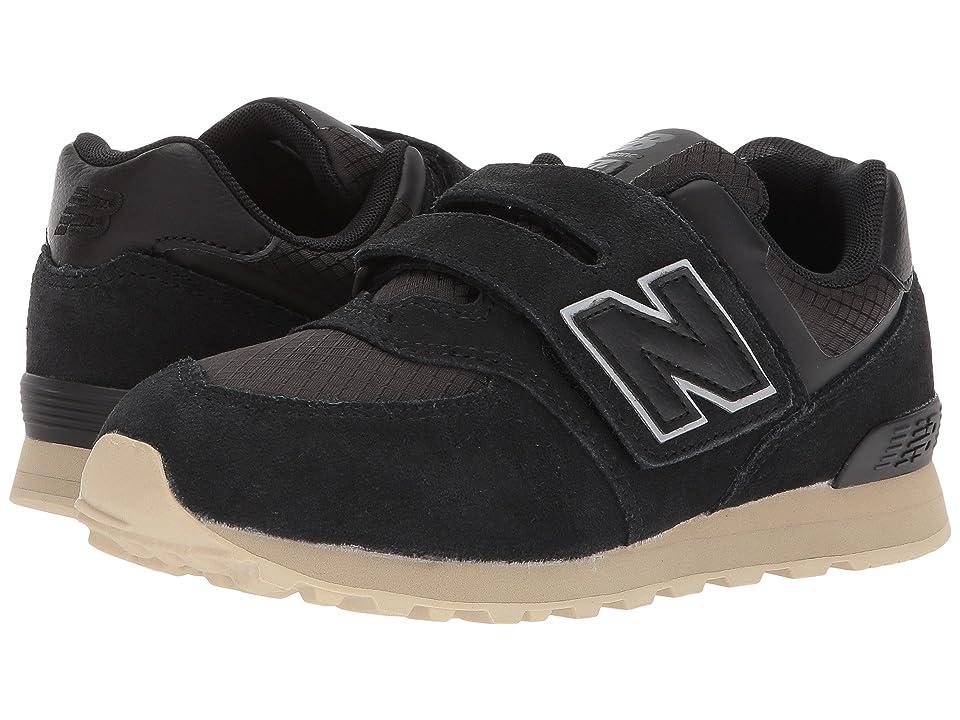 New Balance Kids KV574v1I (Infant/Toddler) (Black/Tan) Boys Shoes