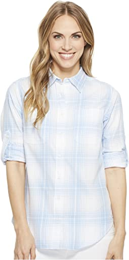 Plaid Rolled-Cuff Cotton Shirt