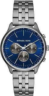 Michael Kors Men's Sutter Quartz Watch with Stainless Steel Strap, Metallic, 20 (Model: MK8724)