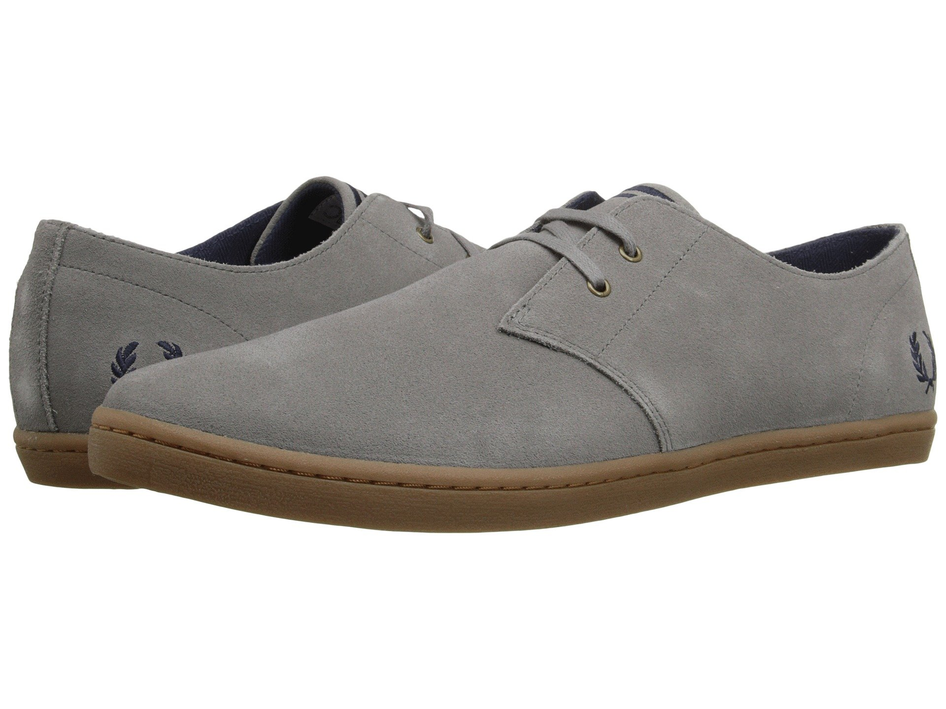 Baskets Fred Perry Byron Low Suede Falcon Grey Charcoal XGi3tlCJC