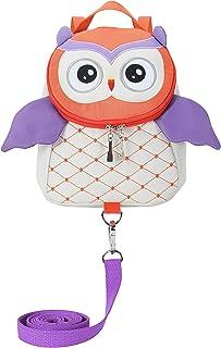حقائب ظهر للأطفال الأولاد والبنات على شكل بومة لطيفة مع سلسلة أمان حقائب أطفال مضادة للضياع لمدة 2-5 سنوات