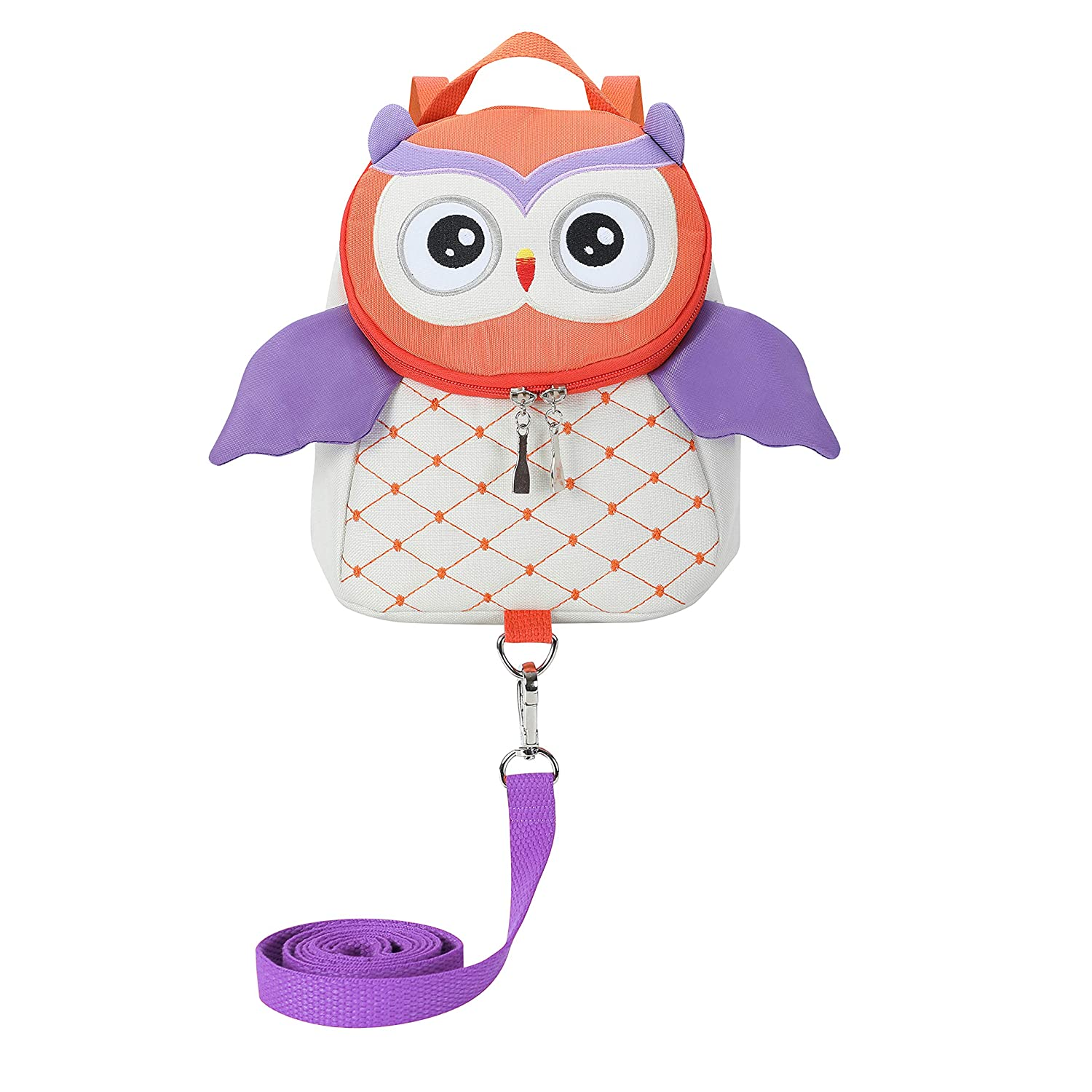 Toddler Girls Boys Cute Owl Backpacks with Safety Leash Kid Child Anti-Lost Bags for 2-5 Years (Owl, Beige)