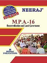 NEERAJ IGNOU MPA-16 - Decentralisation & Local Governance (English Medium)