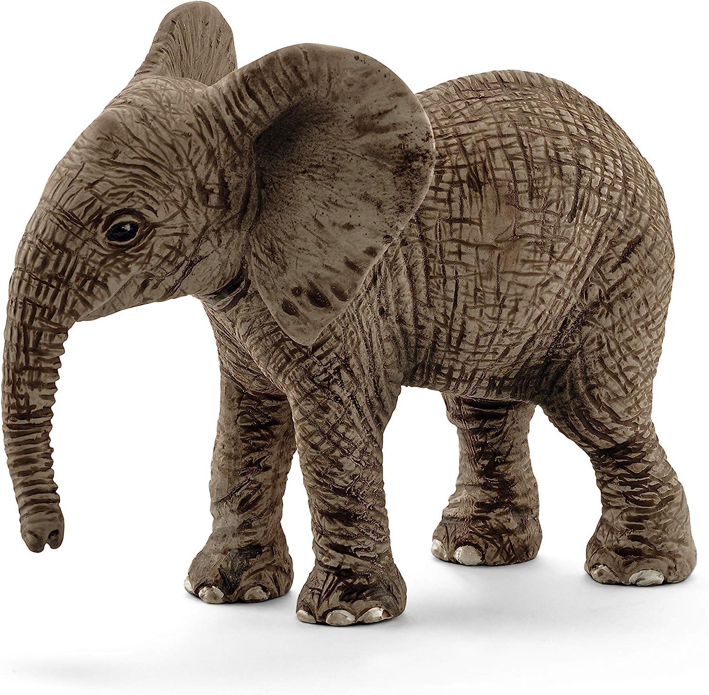 Schleich- Figura de Cría de Elefante Africano, Colección Wild Life, 6.8 cm (14763)