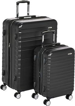 2-Piece Set AmazonBasics Premium Hardside Spinner Luggage