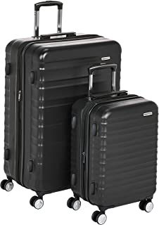 "AmazonBasics Premium Hardside Spinner Luggage with Built-In TSA Lock - 2-Piece Set (21"", 30""), Black"