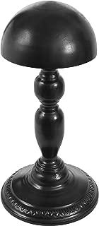 MyGift Vintage Design Black Metal Hat Rack/Cap/Wig Holder Free Standing Display Stand