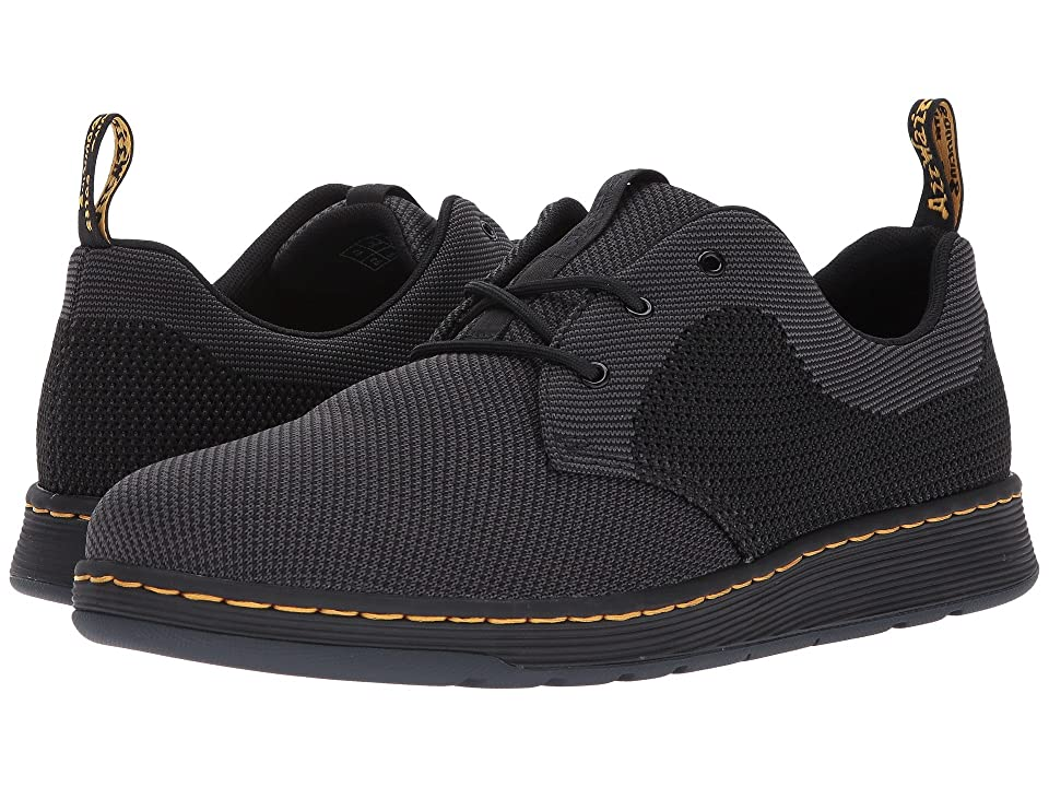 Dr. Martens Cavendish Knit 3-Eye Shoe (Black/Anthracite + Black Knit) Shoes