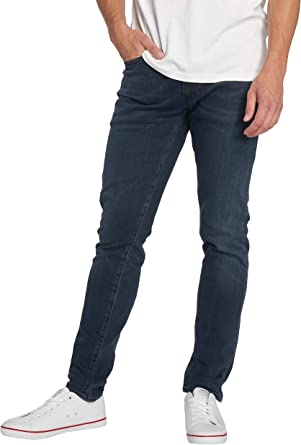 Levis 512 Slim Taper Fit 28833 0279 Men S Jeans Dark Blue Amazon De Bekleidung