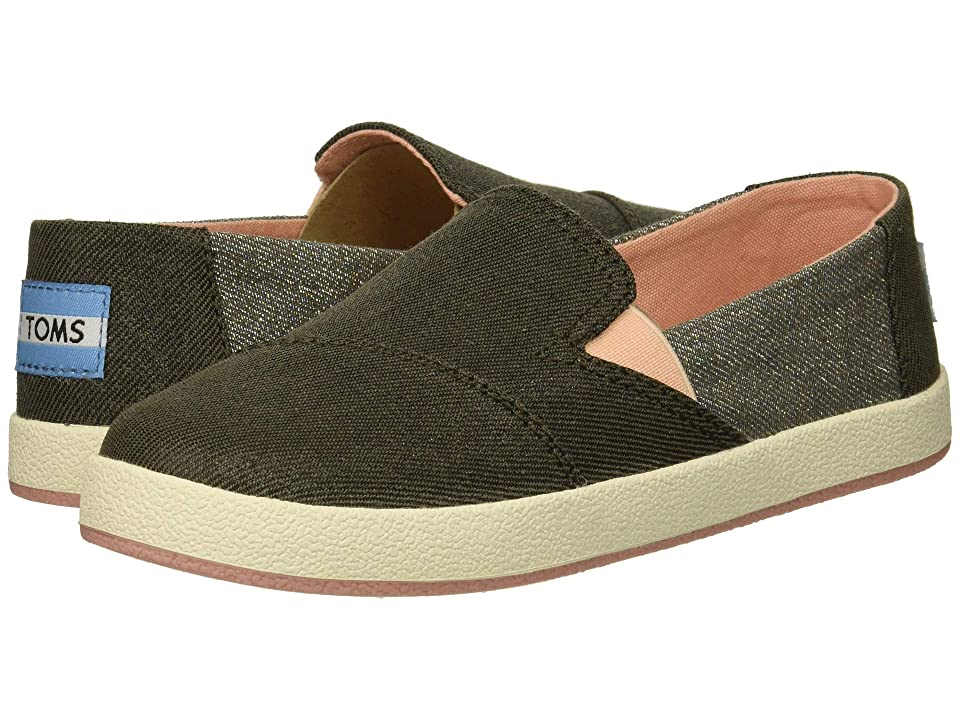 TOMS Kids Avalon (Little Kid/Big Kid) (Forged Iron Twill Glimmer) Girl