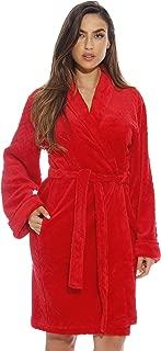 Kimono Robe Velour Chevron Texture Bath Robes for Women