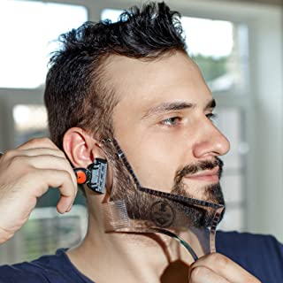 Manecode Beard Guide Tool for Trimming - Shaper Stencil Template for Men's Shaving with Fully Approved Lines Design