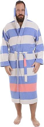 40660e3e18 Cacala Hooded Turkish Bathrobe – Comfortable 100% Cotton Turkish Bath Towel  Fabric – Bright