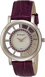 Titan Purple Analog White Dial Women's Watch - NE9929SL01J
