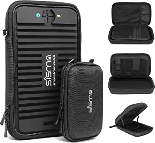 Sisma Travel Electronics Organizers Universal Carrying Cases for Small Electronics and Accessories, Black Bundled Small Pouch SCB16128S-B