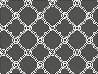 York Wallcoverings Trellis Removable Wallpaper, Charcoal Gray/White