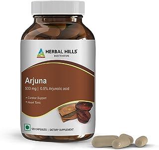 Arjuna Capsules - 500 mg, 120 Vegie Capsules-Terminalia Arjuna - Supports Cardiovascular Health - Supports Blood Circulati...