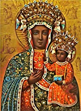 Black Madonna Poland Our Lady of Czestochowa Polish Madonna print POSTER A3 Religious Catholic pictures Christian Holy Wall Art Decor for Home Room