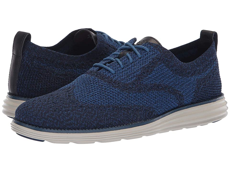 Cole Haan Original Grand Stitchlite Wingtip Oxford (Marine Blue/Limoges/Dove) Men
