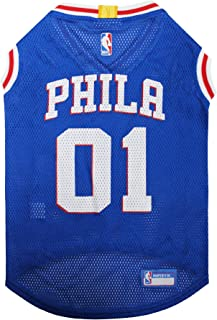 NBA PHILADELPHIA 76ERS DOG Jersey, Medium - Tank Top Basketball Pet Jersey