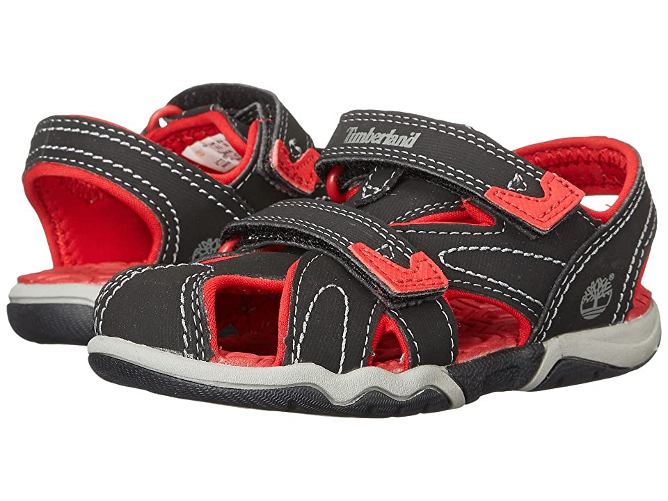 Timberland Kids Adventure Seeker Closed Toe Sandal (Toddler/Little Kid) (Black/Red) Boys Shoes