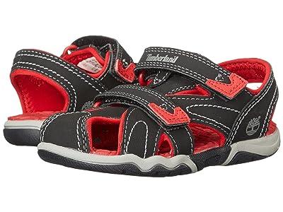 Timberland Kids Adventure Seeker Closed Toe Sandal (Toddler/Little Kid) (Black/Red) Boys Shoes