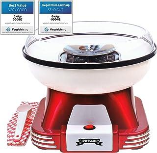 Gadgy ® Maquina de Algodon de Azucar | Retro Cotton Candy Machine | Usar Azúcar Regular de Caramelo Duro Sin Azúcar | 500W...