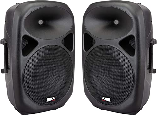 """lowest LyxPro SPA-12 Compact 12"""" Portable PA System 130-Watt discount high quality RMS Active and Passive Speaker System Kit Bluetooth, SD Slot, USB MP3 XLR 1/4"""" Inputs outlet sale"""