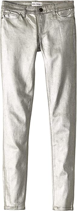 Silver Coated Skinny Jeans in Silverado (Big Kids)
