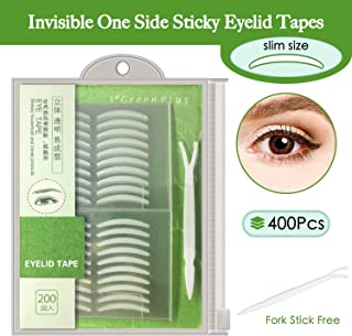400Pcs Natural invisible Single Side Eyelid Tape Stickers Medical-use Fiber Eyelid Lift Strip, Instant Eye Lift Without Surgery, Perfect for Uneven Mono-Eyelids, Slim