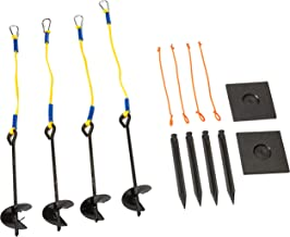 Park & Sun Sports Outdoor Volleyball Beach/Sand Adaptor Kit with Ground Stakes: Auger Anchor Set